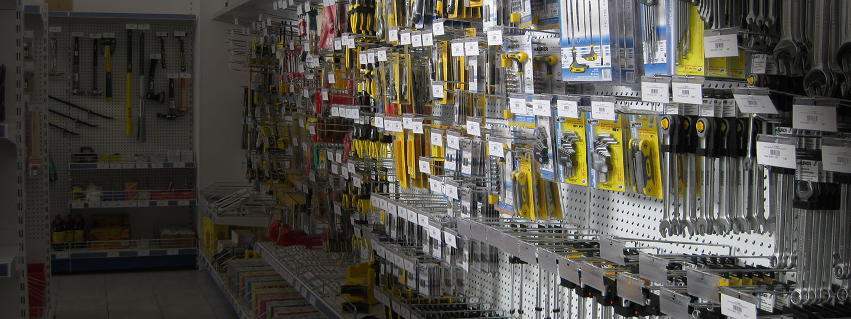 Allestimenti per negozi di ferramenta e fai da te