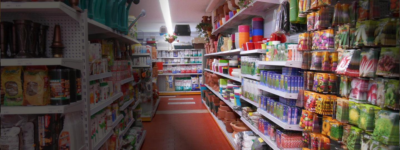 Allestimenti per negozi di giardinaggio e pet shop