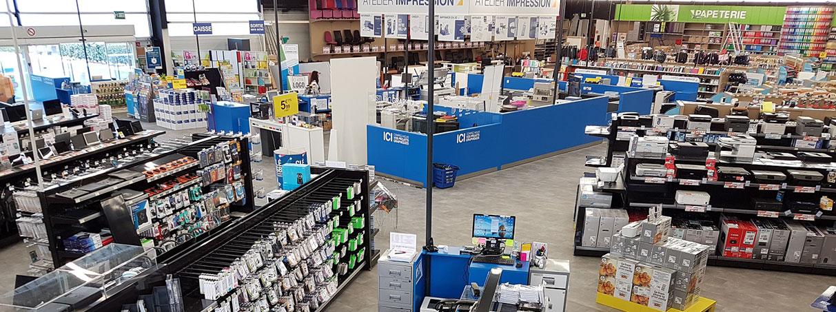 Soluzioni espositive per negozi ricambi per stampanti